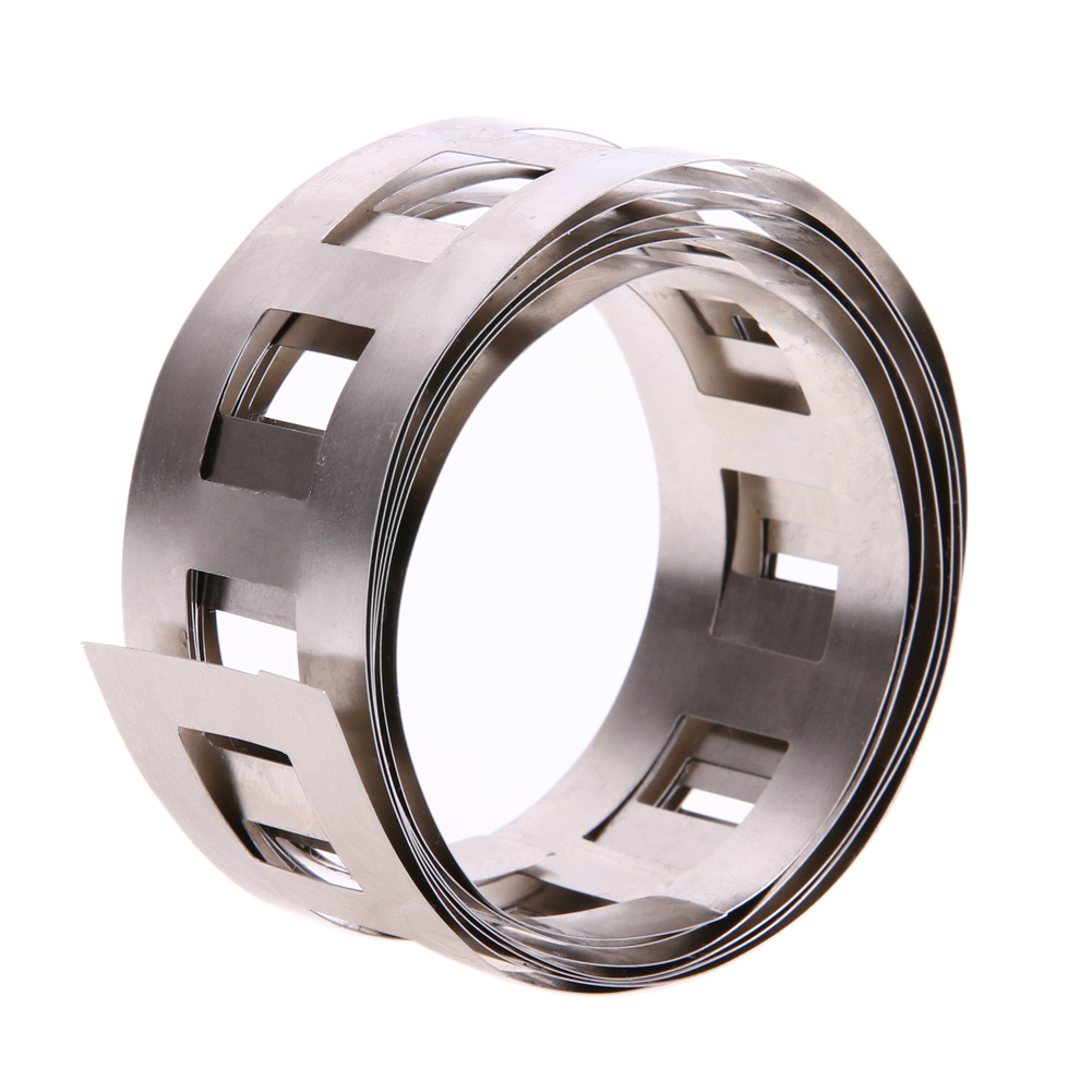 Фото 1M 0.15x25.5mm Pure Ni Plate Nickel Strip Tape nickel belt used for Battery Welding DIY Pack Assembly battery holder
