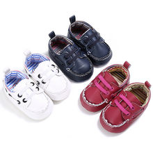 New Baby Slipers Gold glitters first walkers Anti-slip Pu leather crib Girls Boys Sneakers Casual Baby Moccasins shoes(China)