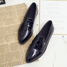 Pointed Toe Oxford Shoes For Women Leather Shoes Ladies Autumn Flats Shoes Women 2019 New Soft Black Flats Women Fashion Shoes все цены