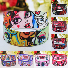 7/8'' (22mm) Ruban Monster Cartoon Character printed Grosgrain Ribbon party decoration satin ribbons OEM 10 Yards 7 8 22mm owl cartoon character printed grosgrain ribbon party decoration satin ribbons oem 10 yards