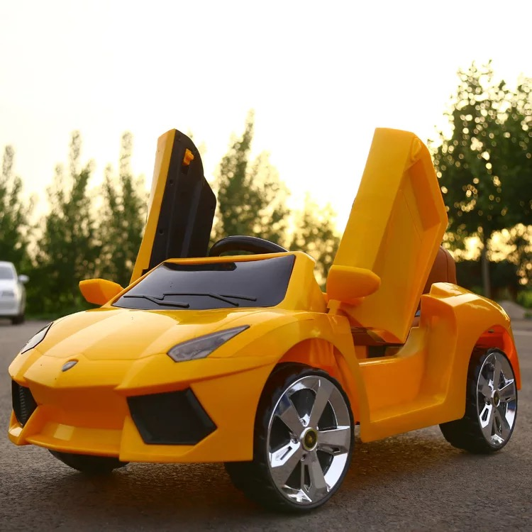 Good Quality Double Open Door 1-5 Years Old Kids RC 2.4G Bluetooth Remote Control Toy Electric Ride On Music Car With Led Light