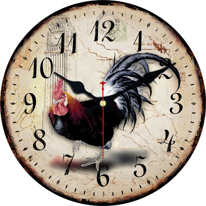 Vintage Wall Clock,Wall Watches Home Decor,Kitchen Clock