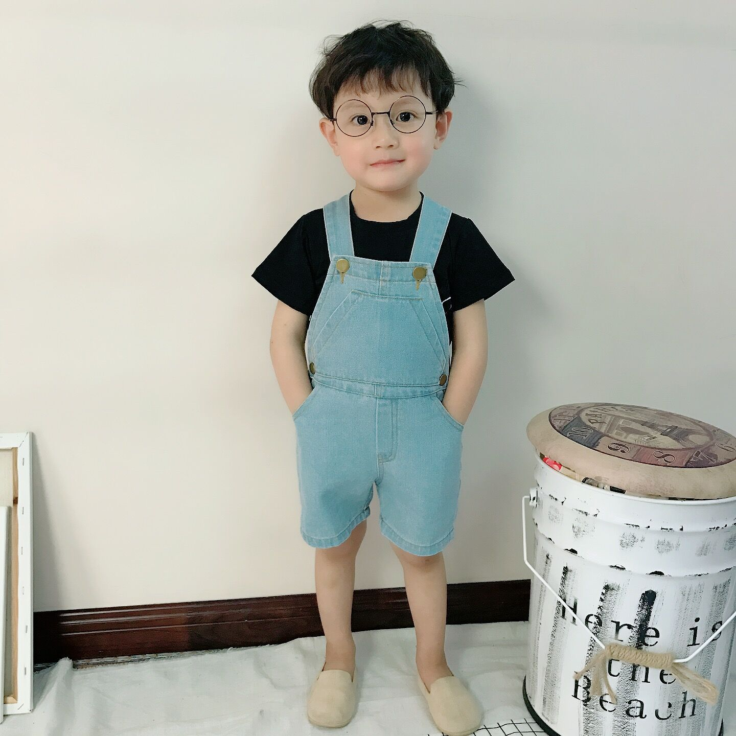 09303b8f331c Children Summer Overalls Shorts 2018 New Baby Boys Jeans Pants Kids Trousers  Denim Jean Baby Girls Suspender Short Fashion Jeans-in Overalls from Mother  ...