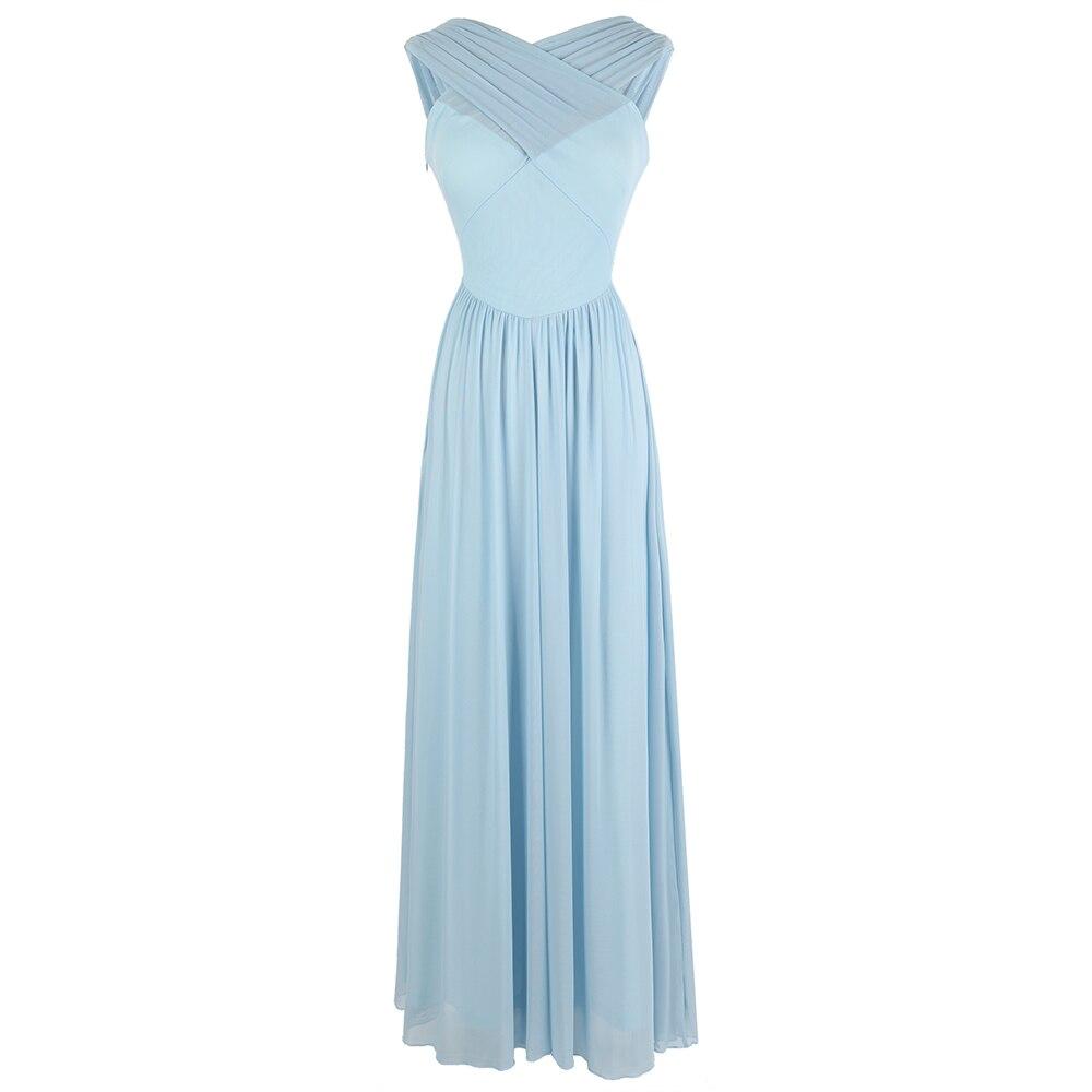 Angel-fashions Women's Pleat   Dresses   A-Line   Bridesmaid     Dress   Serenity W-180602-S
