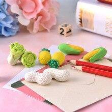 Corn Safe-Material Cabbage Non-Toxic Eraser-Rubber Peanut-Pencils Vegetables Kids Children