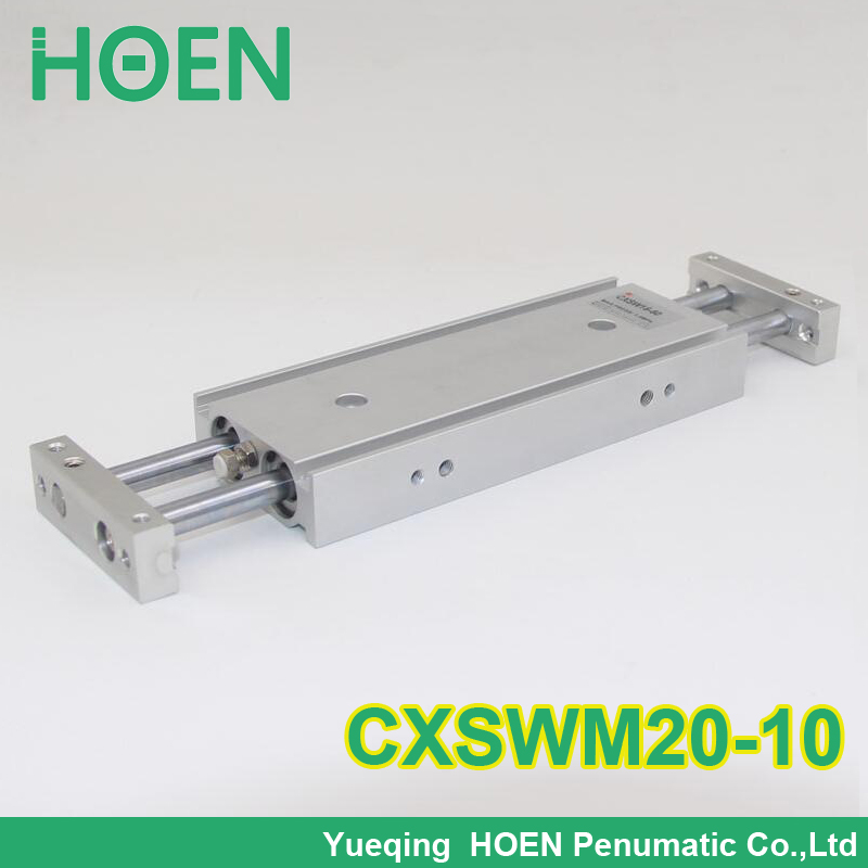 CXSM CXSJ CXSW series CXSWM20-10 20mm bore 10mm stroke dual rod cylinder slide bearing double rod pneumatic cylinder CXSW20-10 cxsm10 10 cxsm10 20 cxsm10 25 smc dual rod cylinder basic type pneumatic component air tools cxsm series lots of stock