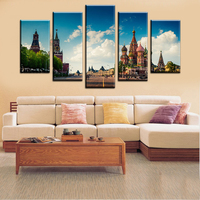 High Quality Russia Moscow Kremlin Art Prints Canvas Oil Painting By Numbers City Picture Print Unframed