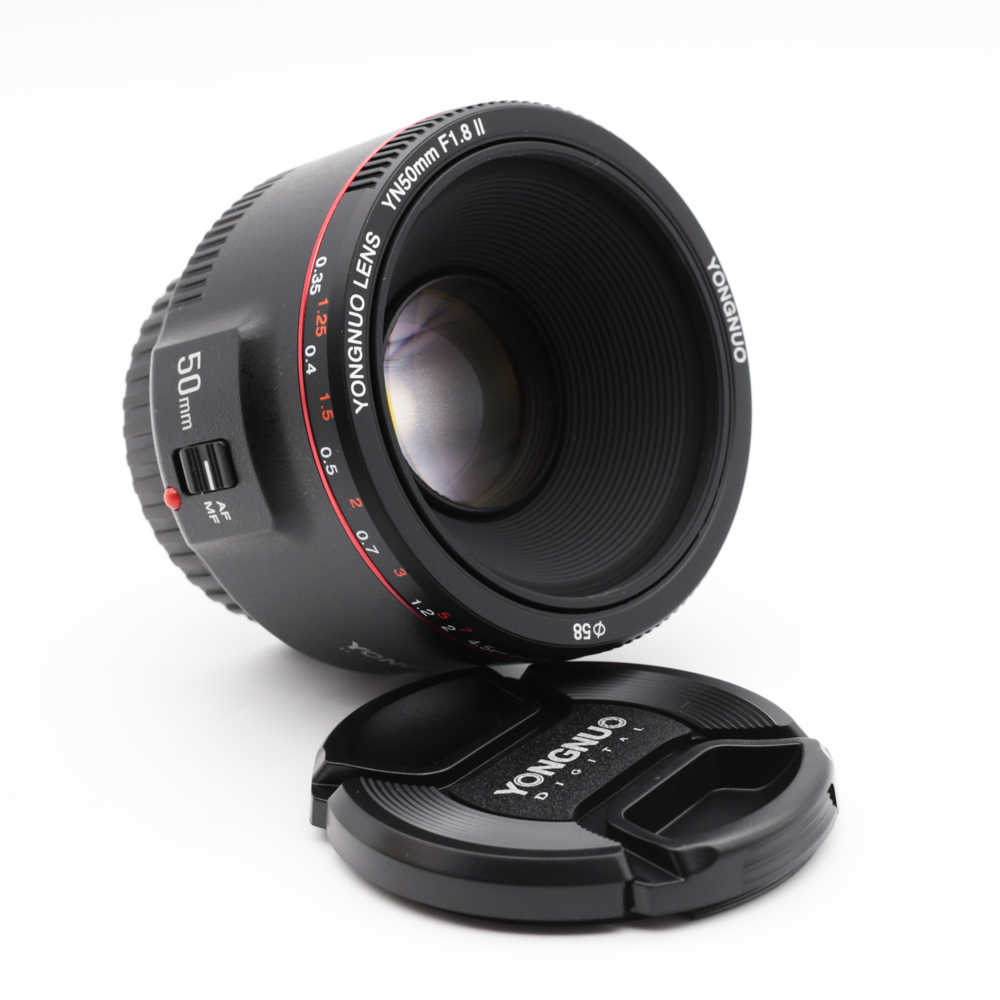 YONGNUO YN50mm F1.8 II duża przysłona obiektyw z automatyczną regulacją ostrości biały dla Canon Bokeh efekt obiektyw aparatu EOS 70D 5D II 5D3 600D DSLR