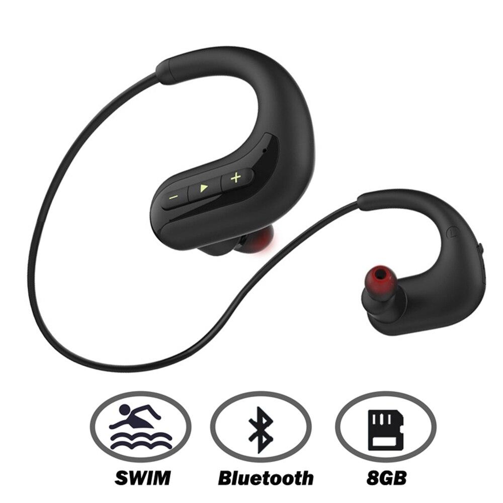 Ariaksen Bluetooth Headphone For Swimming 8GB MP3 Music Player IPX8 Waterproof Wireless Earphone Bluetooth Headset Earbuds Mic