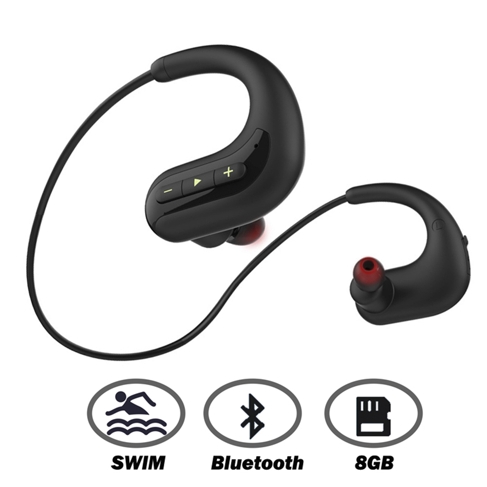 Ariaksen casque Bluetooth pour nager 8 GB MP3 lecteur de musique IPX8 étanche sans fil écouteur bluetooth casque écouteurs micro