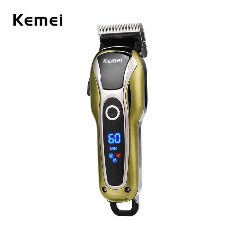 Kemei Electric Haircut Professional Hair Clipper Trimmer Shaving Machine Men Rechargeable Haircutting Tool Razor Beard Trimmer kemei 220 240v electric hair cutting rechargeable hair trimmer men beard trimmer shave razor haircut professional clipper kit