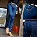 Calças de brim dos homens 2016 moda quente de alta qualidade casuais jeans famosos marca de jeans homens jeans Skinny, calças da moda de rua