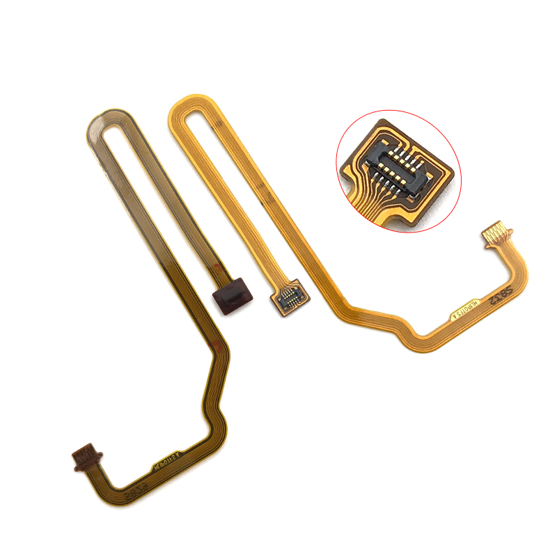 New Fingerprint Sensor Scanner Touch ID Connect Motherboard Home Button Flex Cable For Huawei P Smart 2019 Replacement Parts