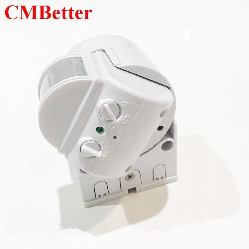 CMBetter High Sensitivety PIR Sensor IR Infrared Motion Sensor light Switch AC 220v-240v Wall-mounted PIR Switch Detector xsav11801 inductive proximity switch speed sensor motion rotate detector 0 10mm dc ac 24 240v 2 wire 30mm replace telemecanique