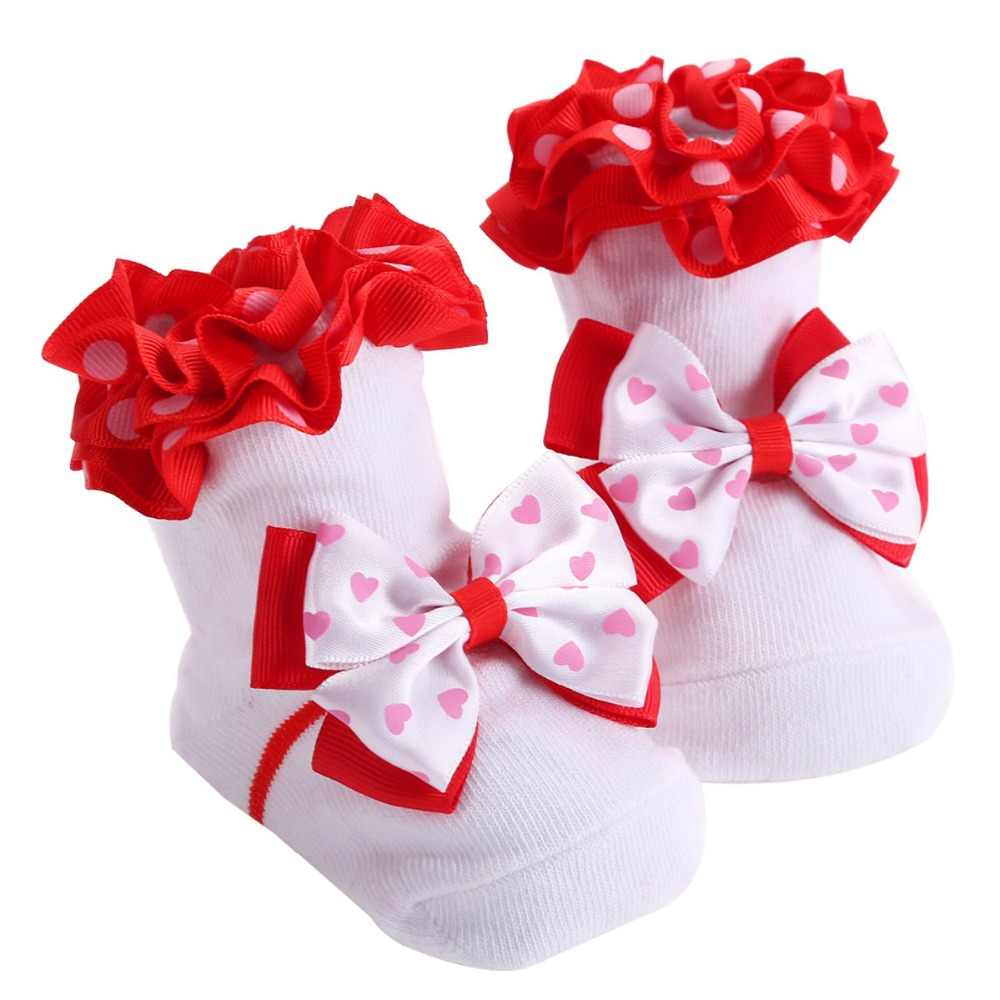 Зимние черные сапоги белые носки для малышей младенцев хлопок принцесса Bowknots детские носки обувь; рождественские носки для новорожденных Meias Para Bebe