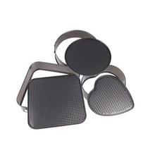 RSCHEF 1 PCS Roasting tool 3 pieces square round heart shaped core bottom belt button cake mold