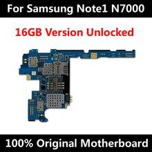 원래 삼성 갤럭시 노트 1 N7000 마더 보드 16 기가 바이트 전체 잠금 해제 메인 보드 칩 안드로이드 OS 시스템 로직 보드