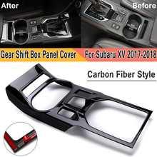 Углеродное волокно стиль ABS коробка скоростей коробка панель защитный настил отделка для Subaru XV 2017-2018 Интерьер Аксессуары для приборной панели
