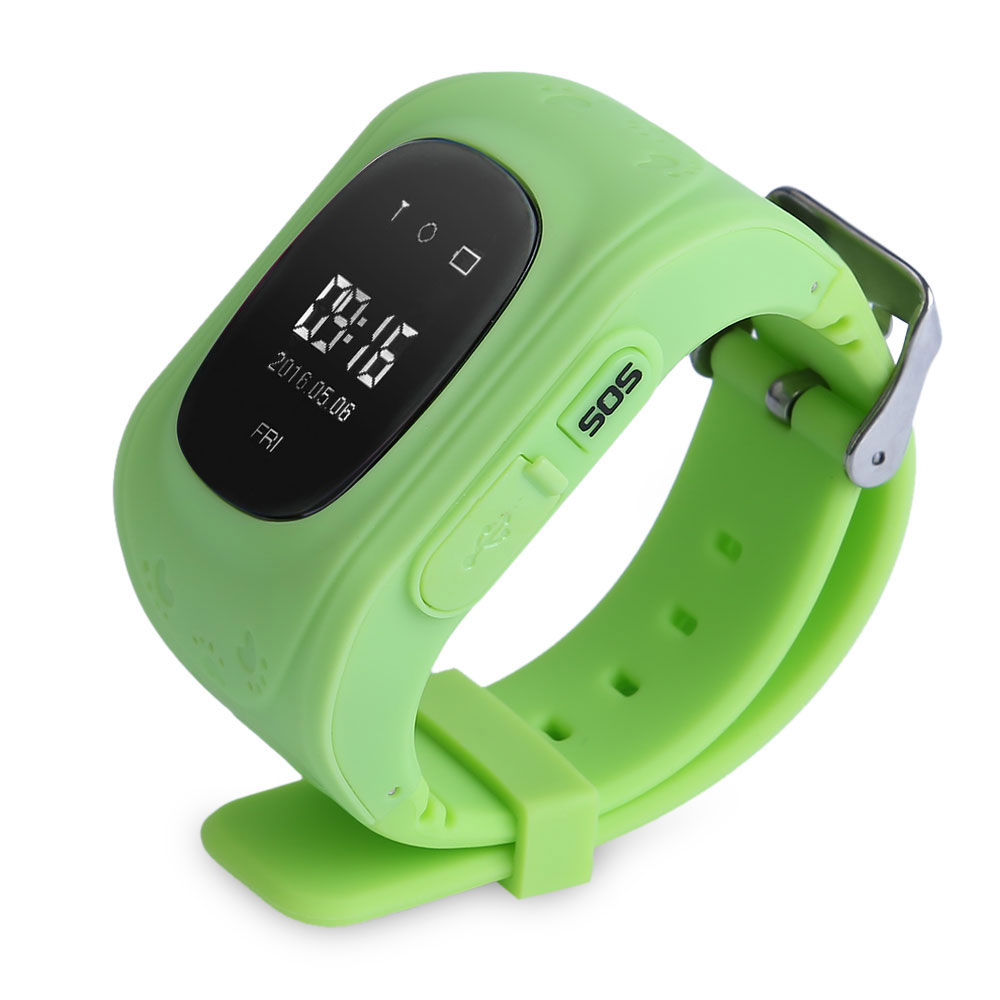 Q50 Smart Watch Children Safety Monitor Portable GPS Intelligent Smartwatch For Android IOS Telephones Kid Anti-Lost Locator