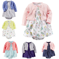 Brand Baby Rompers Spring Baby Girl Clothing Set Newborn Clothing Cotton Baby Girl Clothes Roupas Bebe