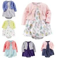 Brand Baby Rompers Spring Baby Girl Clothing Set Newborn Clothing Cotton Baby Girl Clothes Roupas Bebe