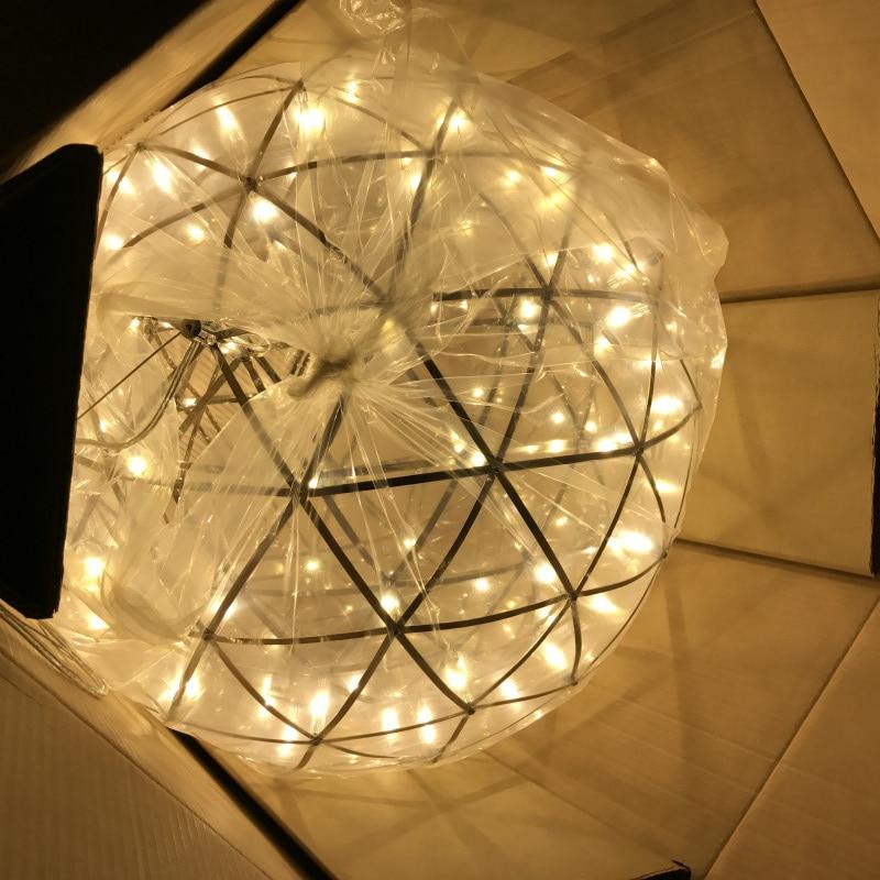 Warm white Dimmable Firework Ball LED Pendant Light Modern Creative Pendant Lamps Stainless Steel Ball Lighting Restaurant/Foyer