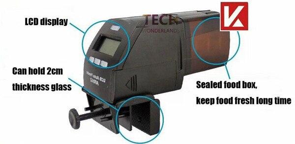 Aquarium digital automatic feeder tropical fish food fisha tank LCD auto feeder AF-012