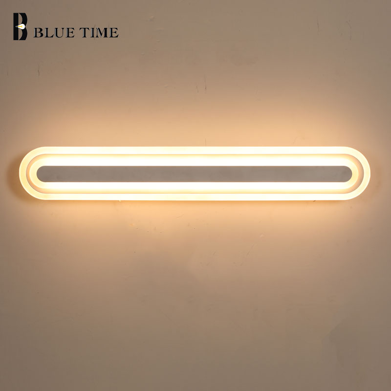 40 60 80CM New Acrylic Modern LED Wall Light AC110V 220V Led Sconce Wall Lamp For Bedroom Bathroom Mirror Front Light Wandlamp