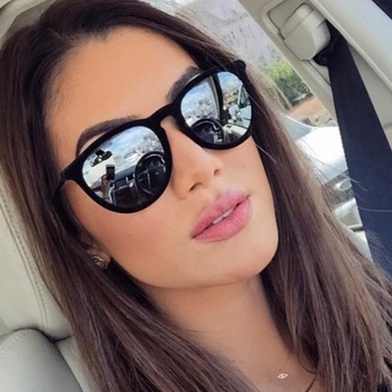 Sunglasses Women Mirrored Oculos-De-Sol Erika-Models Feminino Vintage 4171 Brand Designer