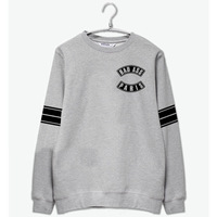 Ikon same bad ass printing o neck sweatshirt fashion kpop fans fleece pullover hoodies plus size stripes sleeve suits