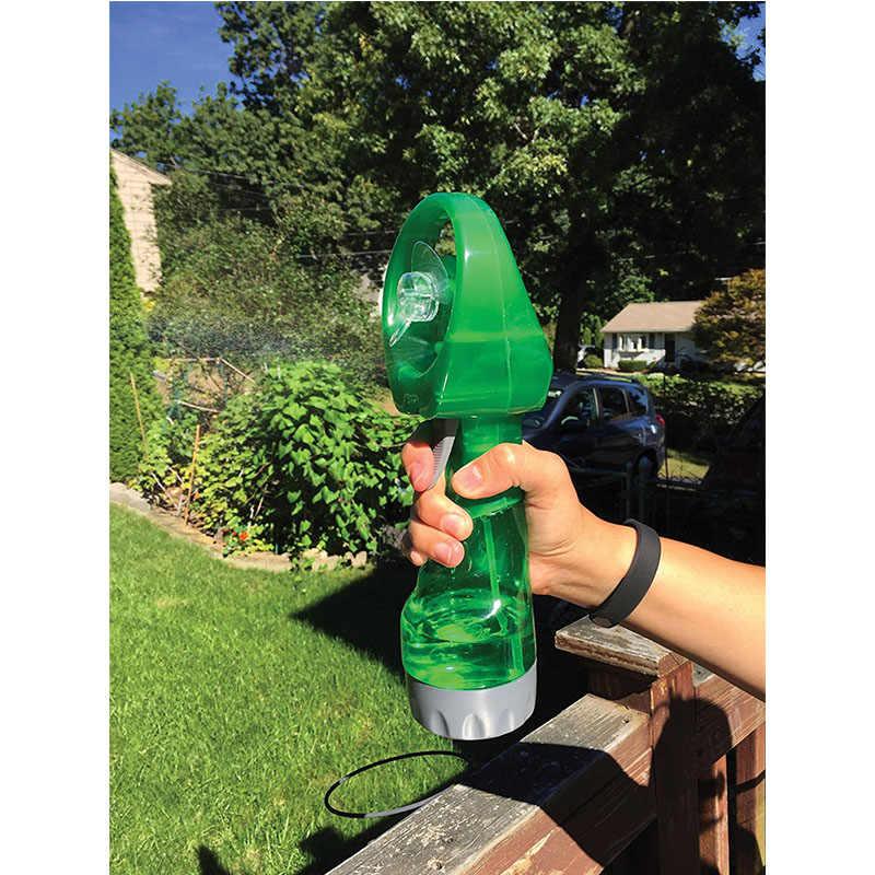 רב נייד מיני יד אוהד פלסטיק מים תרסיס קירור מאוורר חיצוני נסיעות קטן Humidification אלקטרוני מאוורר קליפ 5 צבעים