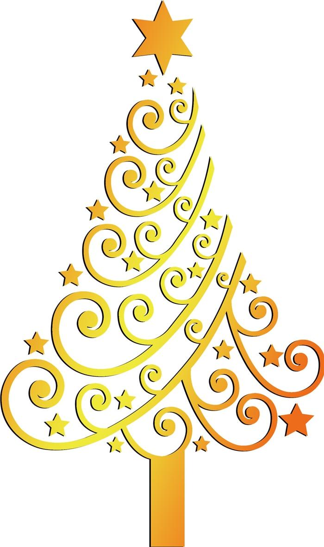 57x62cm PVC Christmas Decoration Stickers Stars Christmas Tree ...