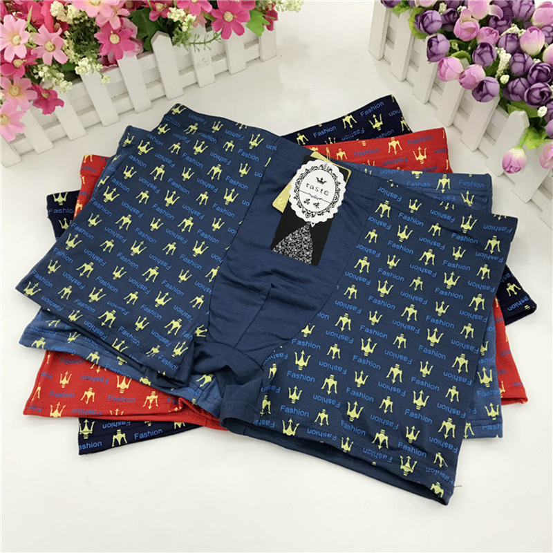 2019 New Extra Large Size Men's underwear 10 Piece Set Box Print Flower Random V Entilation Breathable Boxer underpants