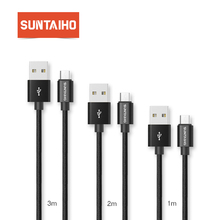 Suntaiho Micro USB Cable [3-Pack] 1M/2M/3M Nylon Metal Braid USB Charger Cable Fast Charging Data Cable for Xiaomi HTC Samsung
