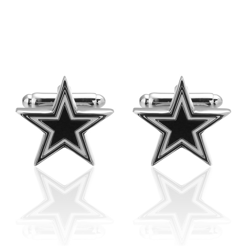 Personalized Cufflinks Five-pointed star Cuff Links for Mens Gifts Dad Customized Cuff Buttons Wedding Favors For Fathers Day