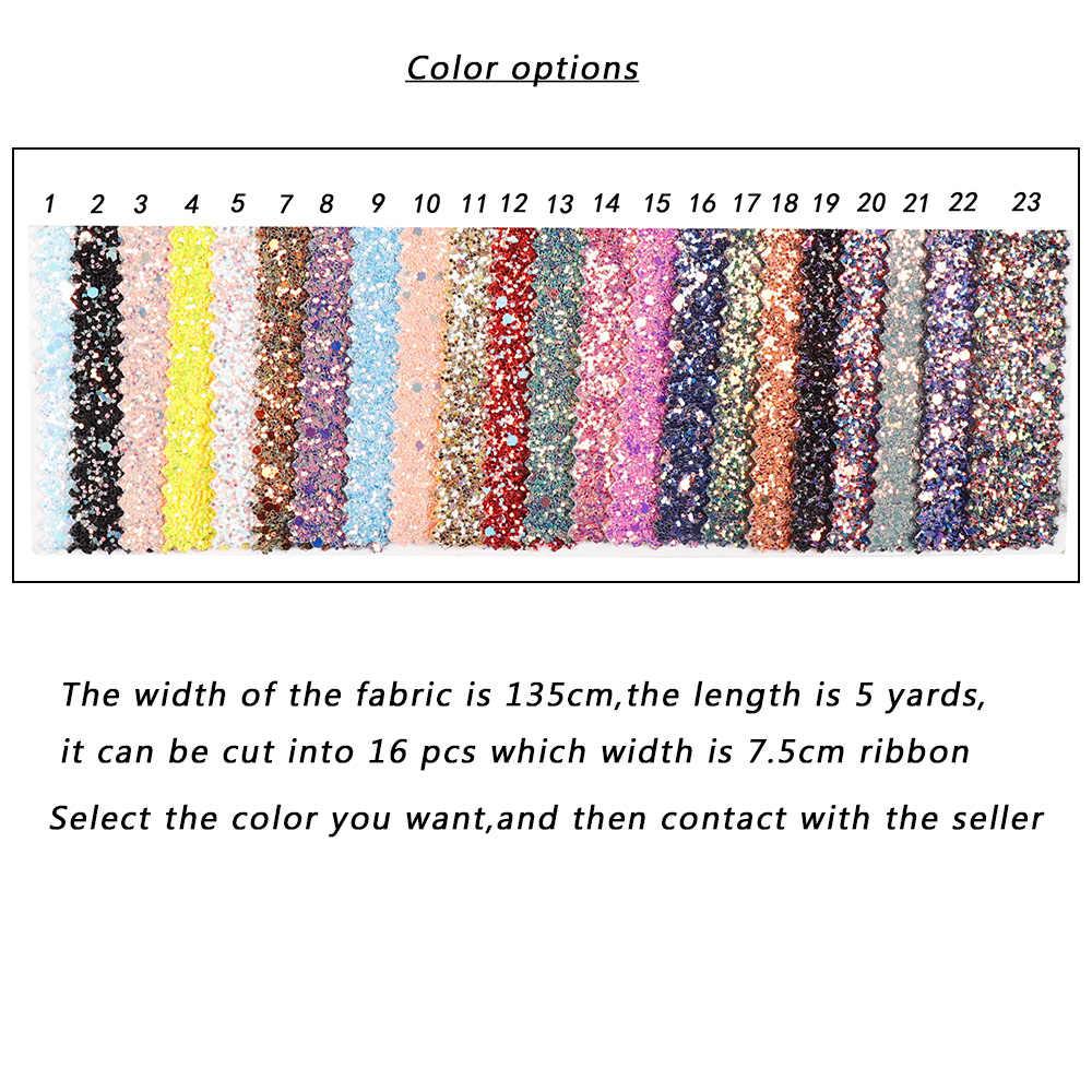 AHB cinta con brillo grueso 75MM cinta de tela suave brillante para lazos Paquete de regalo hecho a mano Material DIY bolsos accesorios de decoración 1y