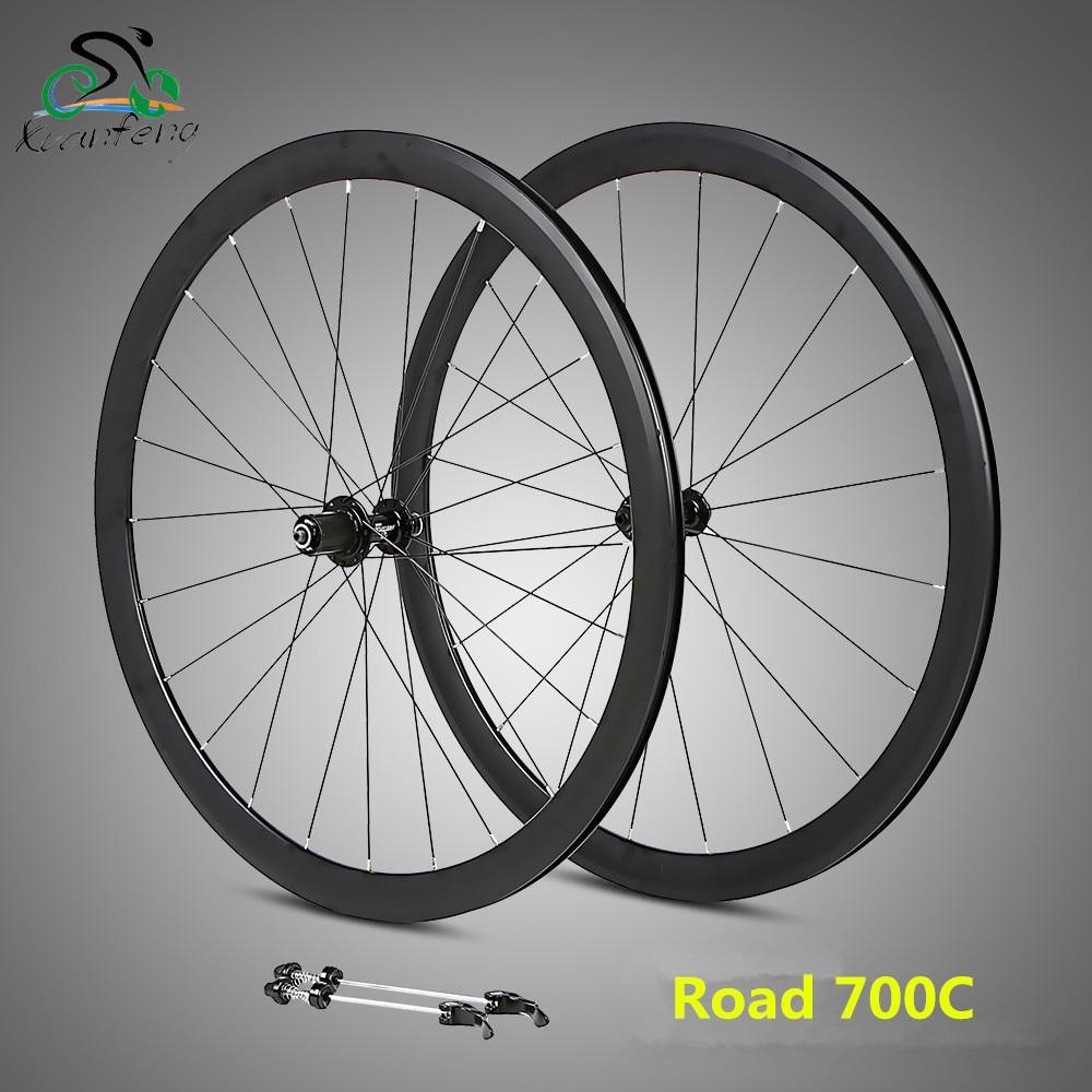 RS ultralight wheelset 700C aluminum alloy road bike 2 Perlin bearing compete in font b speed