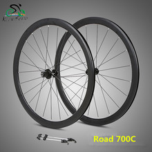 RS ultralight wheelset 700C aluminum alloy road bike 2 Perlin bearing compete in speed 40-speed rims  broken wind wheel set