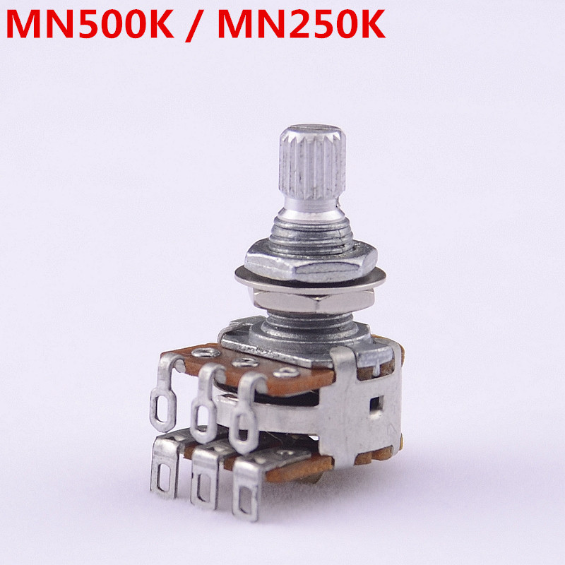 1 Piece GuitarFamily MN250K/MN500K Dual Blend Balance Potentiometer(POT) With Center Detent MADE IN KOREA