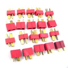 20 pcs 10 Pairs T Plug Connectors Male Female hv3n for Deans RC Lipo Battery Helicopter