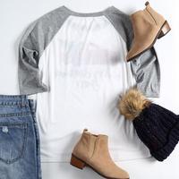 VIN Beauty Fashion 2018 Plus Size Women T Shirt Merry Christmas Y'all Baseball Tees Half Raglan Sleeve O-Neck White Casual Top 1