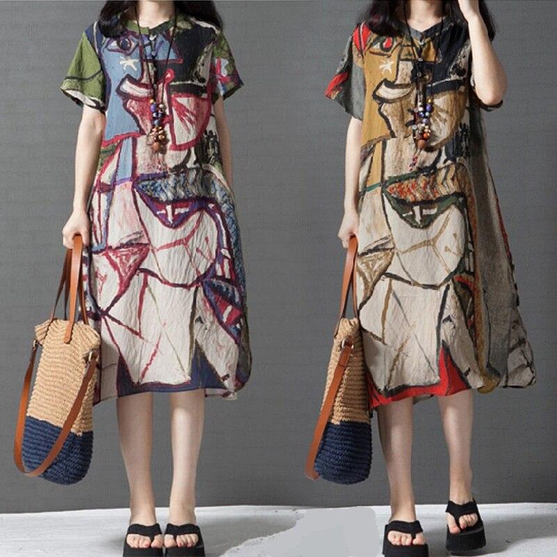 Cotton Linen Women Dress 1