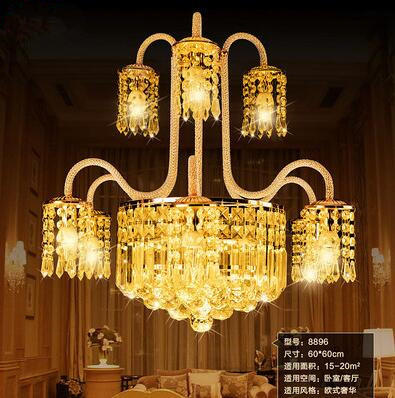 LED 61W-70W Sitting Room Dining-room Of Europe Type Contracted Creative Crystal Droplight Bedroom Chandeliers 220-240V  @-9 m european bohemia mediterranean 9 head droplight color crystal lamp h165cm dia36cm 9 e27 led bulb for sitting room bedroom