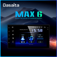 "Dasaita 7 ""Display Radio Mobil Android 9.0 Universal 2 DIN HDMI GPS Navigator 1024*600 64GB ROM(China)"