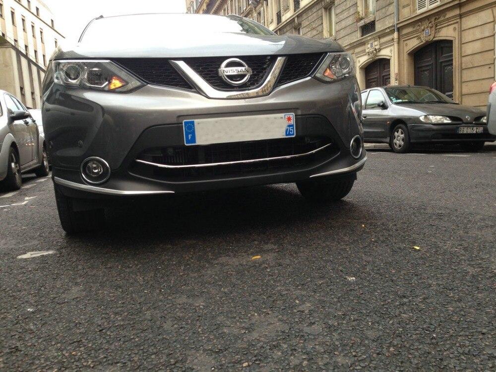 Autocollant de protection de pare-chocs avant automatique pour Nissan Qashqai 2015, accessoires extérieurs automatiques de chrome d'abs, accessoires de voiture - 3
