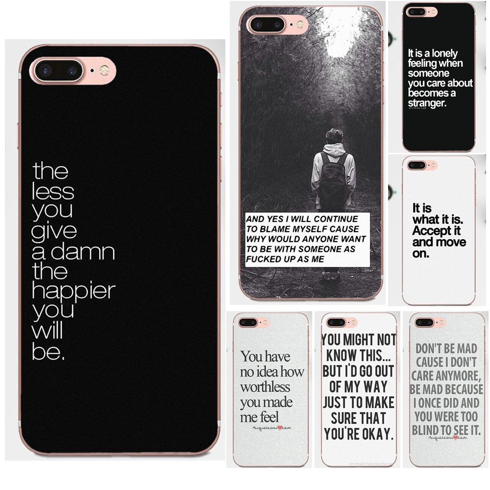 i don 39 t care quotes tumblr soft tpu coque for samsung. Black Bedroom Furniture Sets. Home Design Ideas