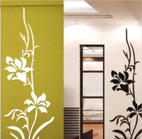 2015Modern Luxury 3D Wall Stickers Orchid Flower Design Removable Home Sticker Decor For bedroom living room