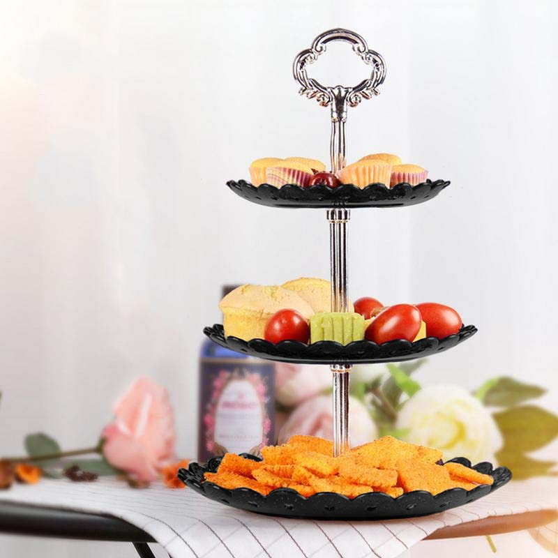Fruit Plate Three Layer Snack Rack Detachable Plastic Shelf