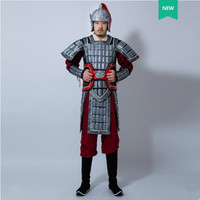 By EMS ancient chinese armor warrior costumes for men ancient history general suits halloween cosplay festival performance