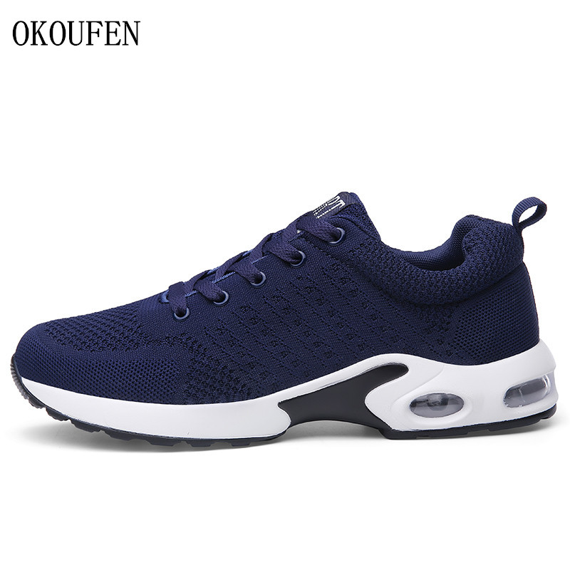 OKOUFEN male sports shoes air cushion footwear men athletic breathable sneakers jogging shoes outdoor gym running